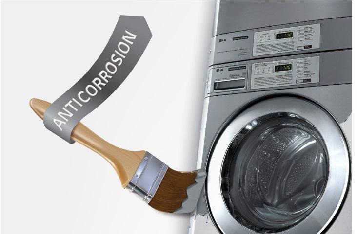 Anti-corrosion powder coated finish on LG laundry machines
