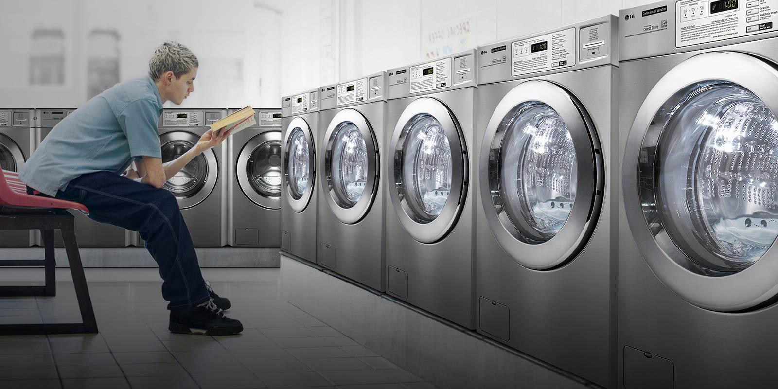 Choose LG Giant C+ commercial tumble dryers because they will help you grow your business