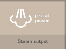 Pre-Set Steam Output Power