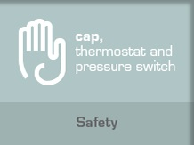 Cap, Thermostat and Pressure Switch for Safety