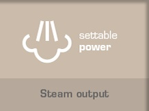 Steam Output Easy to Control